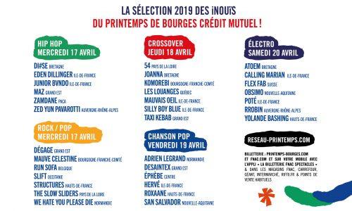 Découvrez les 33 iNOUïS 2019 du Printemps de Bourges Crédit Mutuel !