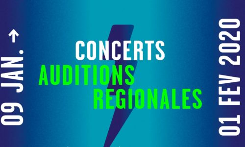 LA BILLETTERIE DES CONCERTS AUDITIONS RÉGIONALES 2020 EST OUVERTE !