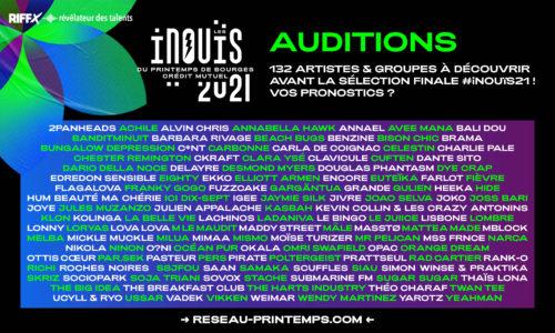 132 artistes à découvrir avant la sélection finale #iNOUïS2021 !