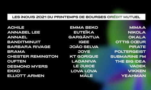 Découvrez la sélection 2021 des iNOUïS du Printemps de Bourges Crédit Mutuel !